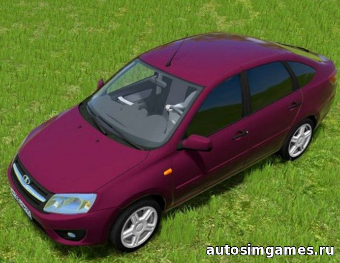Мод машина Лада Гранта для City Car Driving 1.4.1 - 1.5.1
