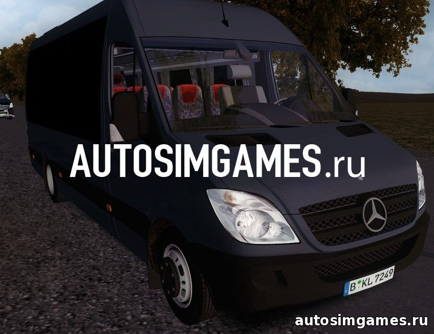 Мод маршрутка Mercedes Benz Sprinter 515 BIG WINDOWS для Omsi 2