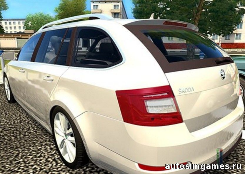 Мод машина Skoda Octavia A7 COMBI для City Car Driving 1.5.1