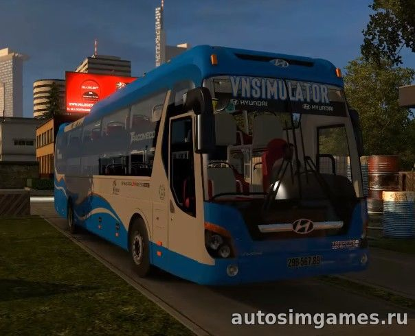 Мод автобус Hyundai Universe Noble Bus Rework v 1.2 для ETS 2 скачать