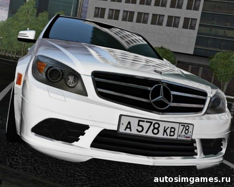 Мод машина Mercedes-Benz C180 W204 для City Car Driving 1.4.1 - 1.5.1