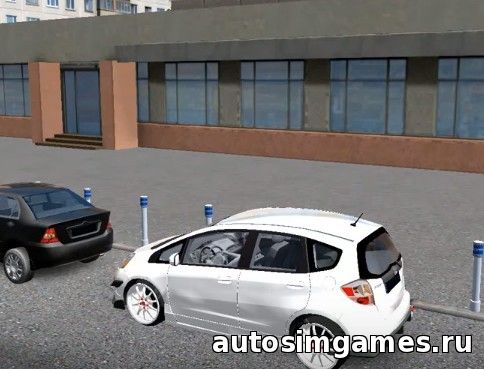 Мод машина Honda Fit для City Car Driving 1.5.1