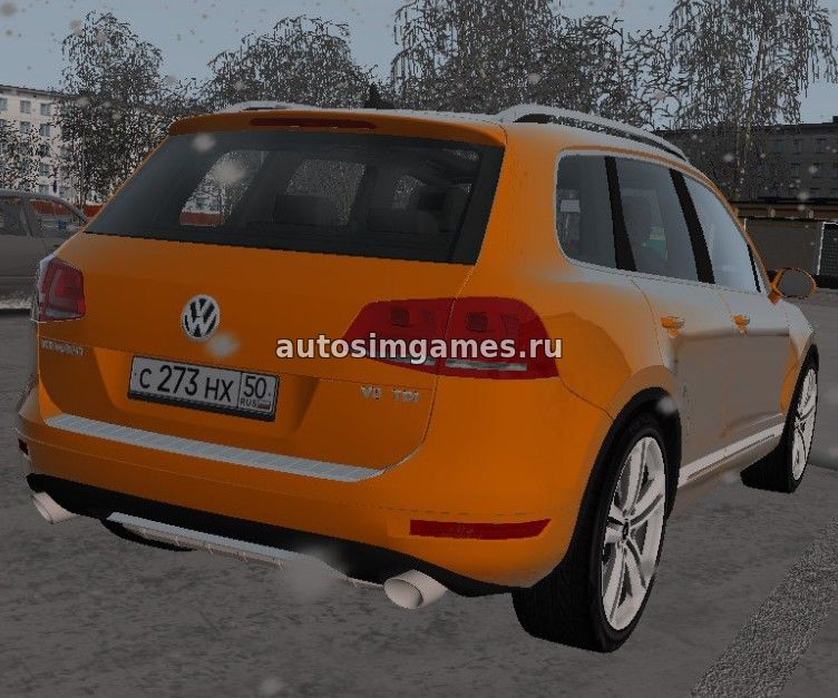 Машина Volkswagen Touareg для City Car Driving 1.5.1 скачать мод