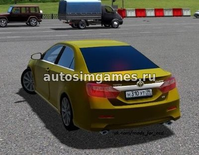 Toyota Camry v50 для City Car Driving 1.5.2