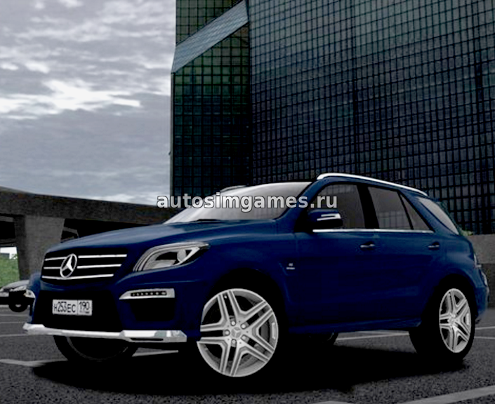 Машина Mercedes-Benz ML63 AMG для City Car Driving 1.5.1 скачать мод