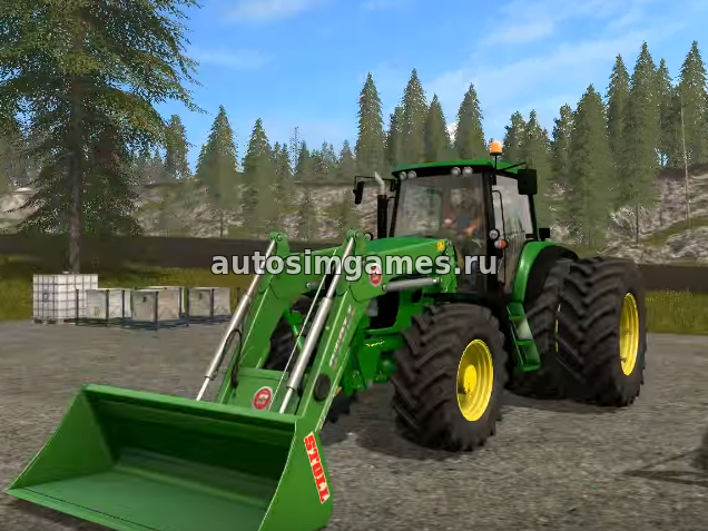 John Deere 7430/7530 Premium для Farming Simulator 2017