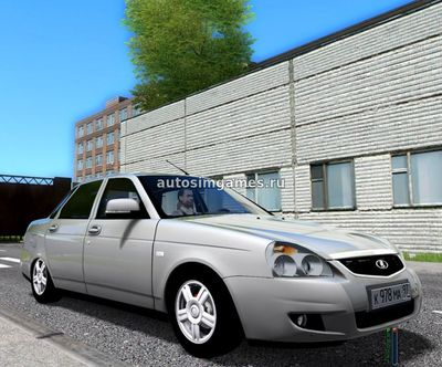 Лада Приора 2014 для City Car Driving 1.5.2