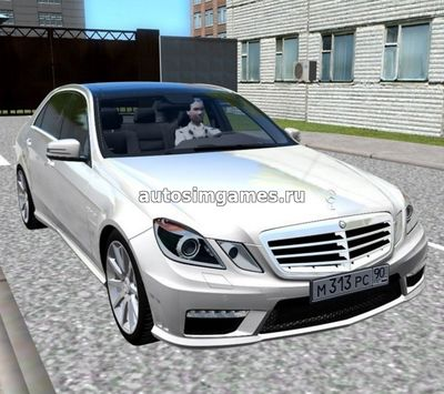Mercedes-Benz E63 w212 для City Car Driving 1.5.2