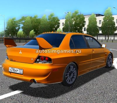 Mitsubishi Lancer Evolution IX MR для City Car Driving 1.5.2