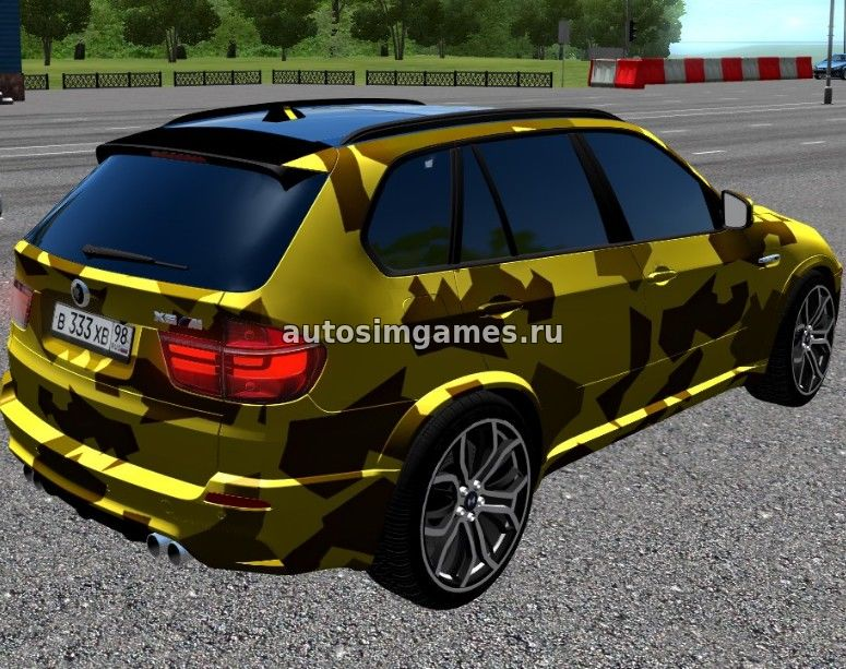 Машина BMW X5 M GOLD для City Car Driving 1.5.2 скачать мод