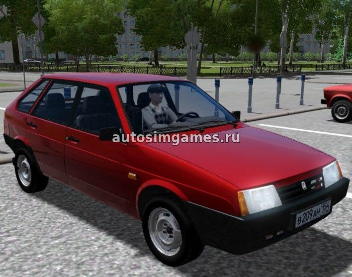 Машина Ваз-2109 Спутник для City Car Driving 1.5.2/1.5.3 скачать мод