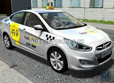 Hyundai Solaris 2011 для City Car Driving 1.5.2