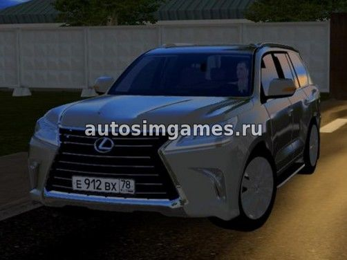 Машина Lexus LX570 2016 для City Car Driving 1.5.3 скачать мод