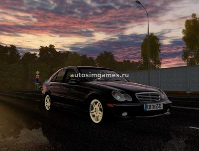 Mercedes-Benz C32 AMG для City Car Driving 1.5.3