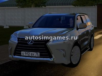 Lexus LX570 2016 для City Car Driving 1.5.3