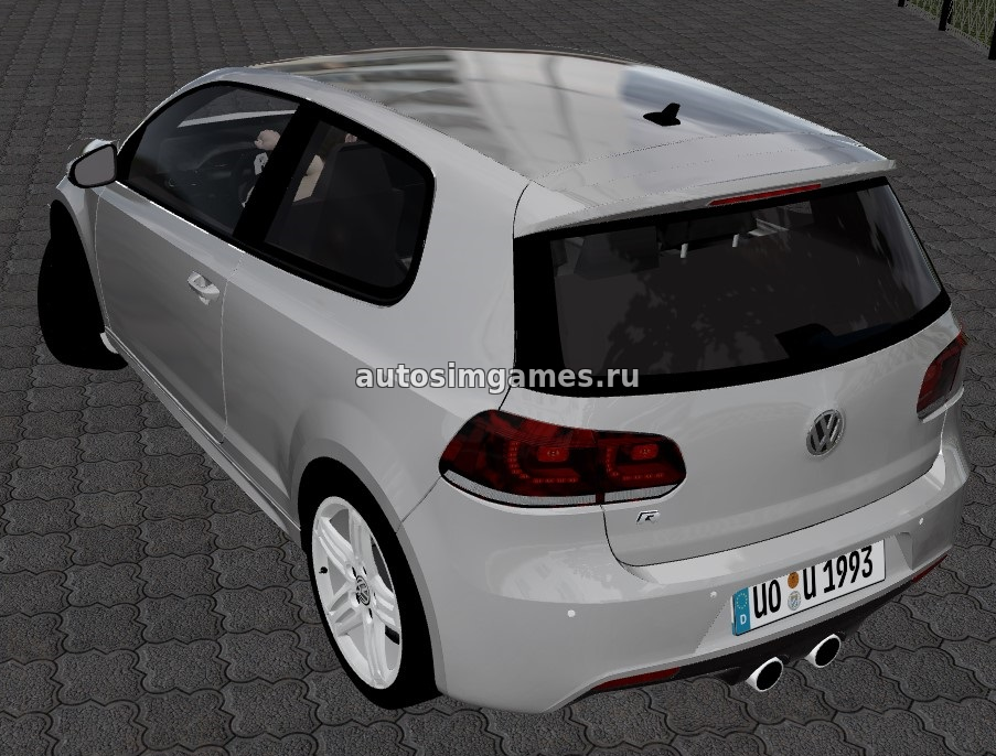 Машина Volkswagen Golf R для City Car Driving 1.5.3 скачать мод