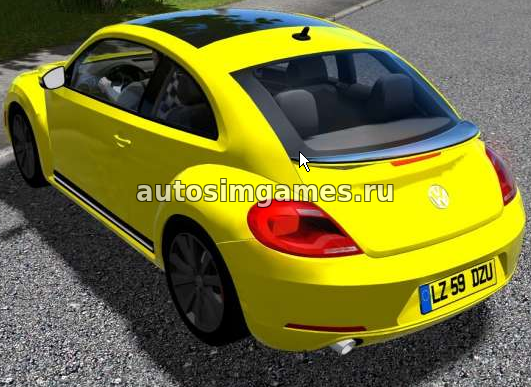Машина Volkswagen Beetle 2011 для City Car Driving 1.5.3 скачать мод