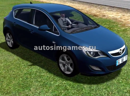 Машина Opel Astra для City Car Driving 1.5.4 скачать мод