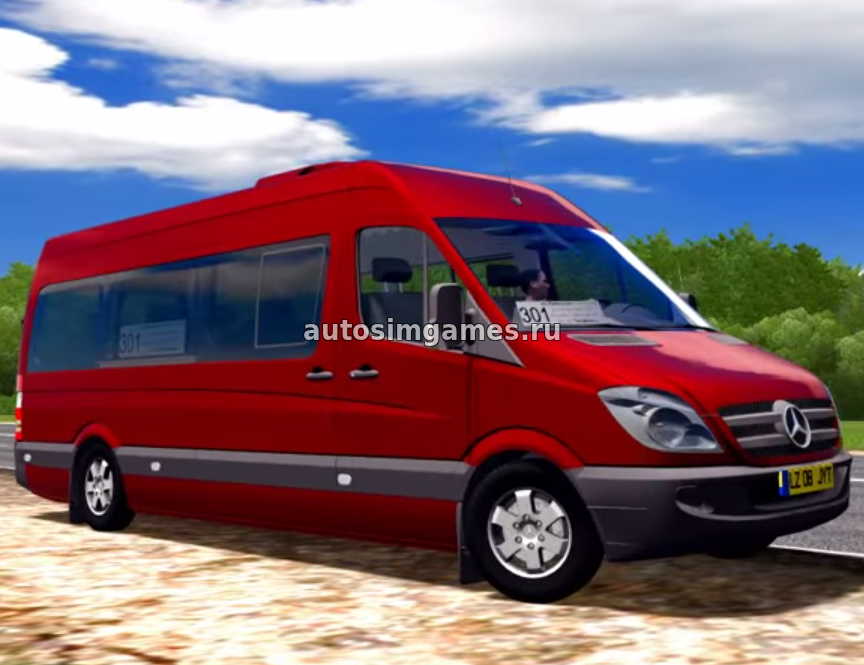 Маршрутка Mercedes-Benz Sprinter 313CDI для City Car Driving 1.5.3 мод