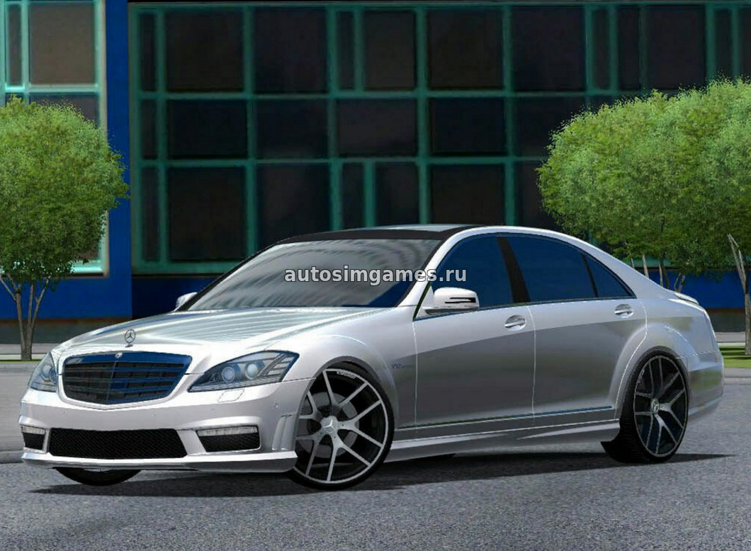 Машина Mercedes-Benz S65 AMG для City Car Driving 1.5.3 скачать мод
