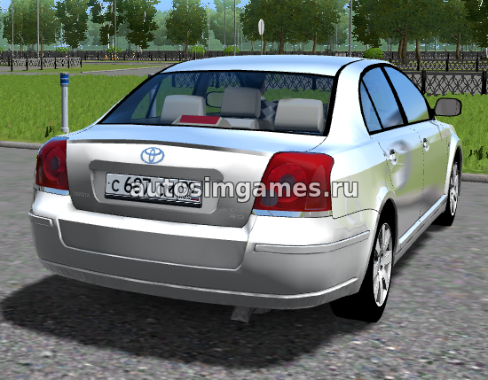 Машина Toyota Avensis для City Car Driving 1.5.2 скачать мод