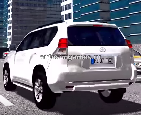 Машина Toyota Land Cruiser Prado для City Car Driving 1.5.1-1.5.4 мод