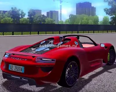 Porshe 918 Spyder для City Car Driving 1.5.4