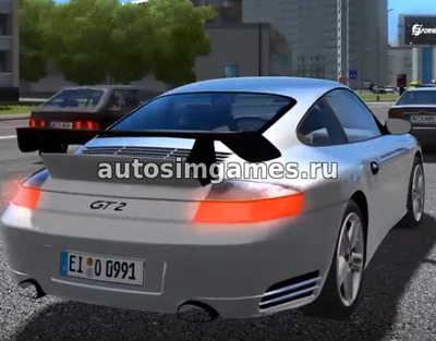 Porshe 911 GT2 для City Car Driving 1.5.4