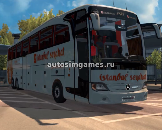 Автобус Mercedes-Benz Travego Special 15-17 SHD для Ets 2 v1.28 мод