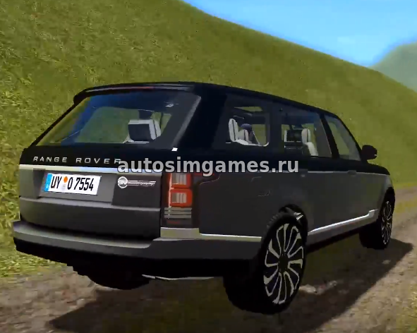 Машина Range Rover SVA для City Car Driving 1.5.4 скачать мод