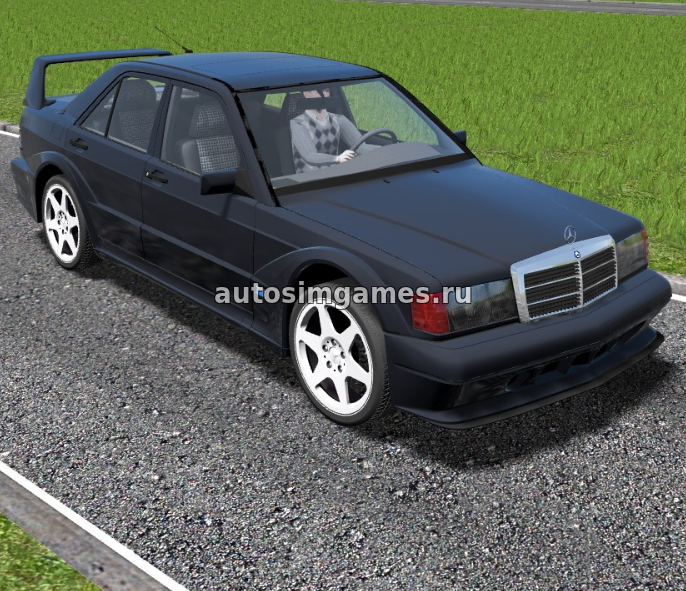 Mercedes-Benz 190E W201 для City Car Driving 1.5.5