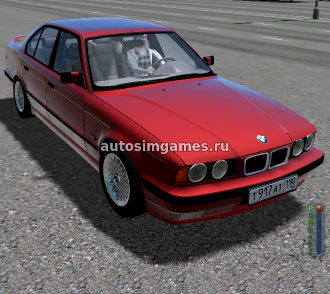 BMW Series 5 525i E34 для City Car Driving 1.5.5
