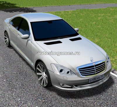 Mercedes Benz W221 S550 для City Car Driving 1.5.5