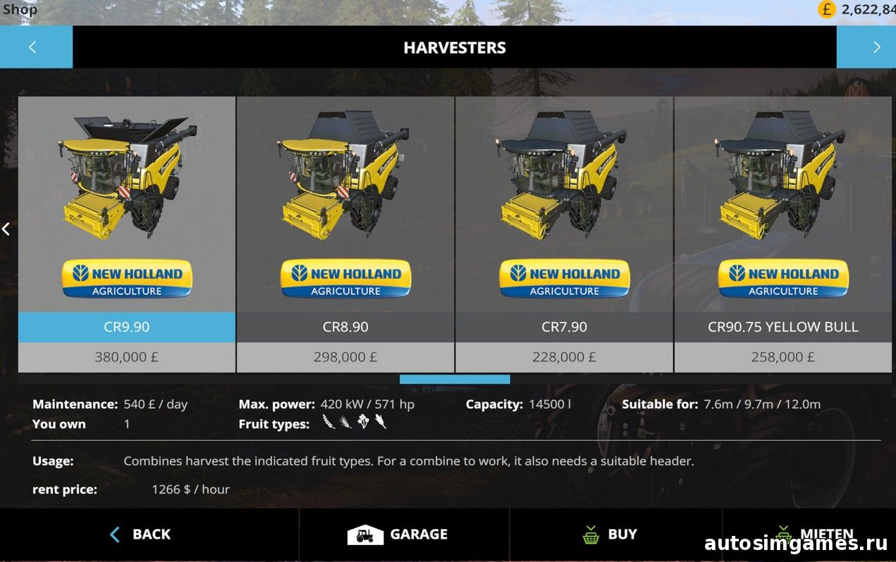 New holland CR 7.90 fs15