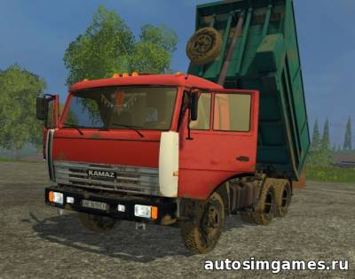 Мод КАМАЗ-55111 v2.0 для Farming Simulator 2015