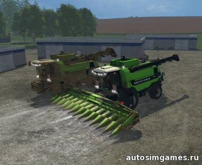 Мод Deutz Fahr 7545 RTS для Farming Simulator 2015