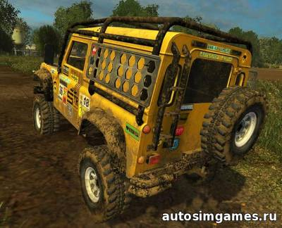 Мод Land Rover Defender Dakar для Farming Simulator 2015