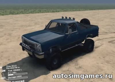 Мод Dodge Ramcharger Open Top для Spin tires 2015
