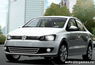 Volkswagen Polo TSI 2014 для city car driving 1.4.1
