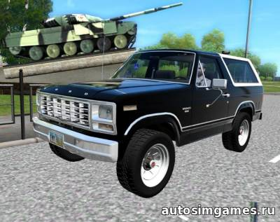 Мод Ford Bronco 1980 для city car driving 1.4.1