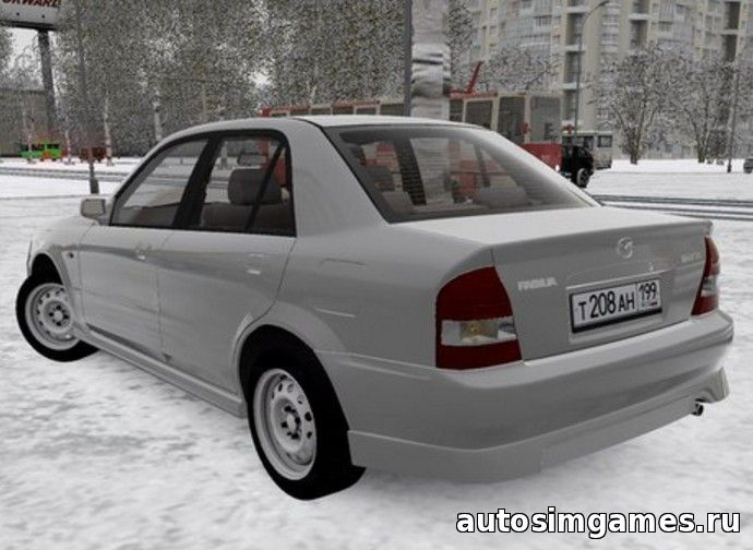 Мод машина Mazda Familia 1.6 для city car driving 1.5.0