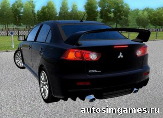 Мод машина Mitsubishi Lancer Evo X GSR 2008 для City Car Driving 1.5.0